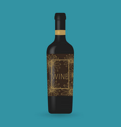 wine bottle packaging design vector image vector image
