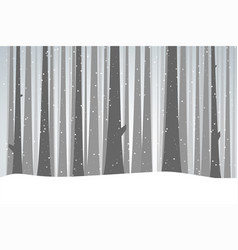 winter black forest vector image