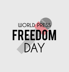 world press freedom day banner vector image