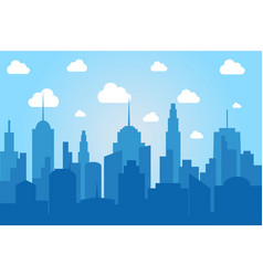 comic cityscape light background vector image