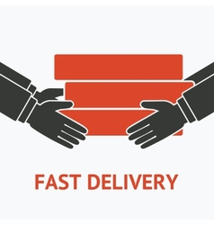 concept for delivery service vector image