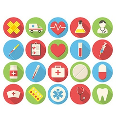 Medical round icons vector image vector image