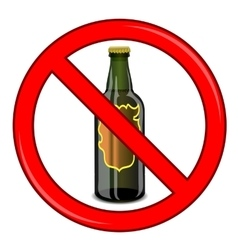 No Beer Sign Isolated vector image vector image