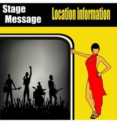 rock concert flyer vector image vector image