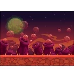 Scary another world seamless background vector image vector image