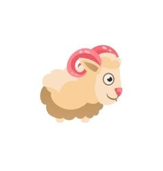 Sheep Simplified Cute vector image vector image