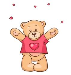 Teddy Bear in heart t-shirt vector image vector image
