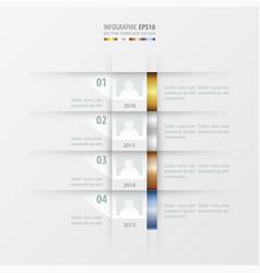 Timeline report design template gold bronze vector