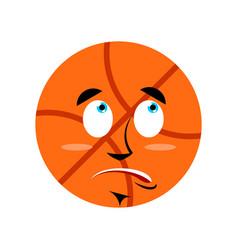 basketball surprised emoji ball astonished vector image vector image