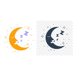 icon silhouette moon vector image