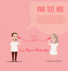 long distance relationship ldr phone couple in vector image vector image