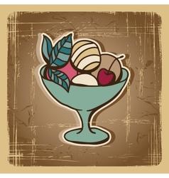 Retro ice cream background vector image vector image