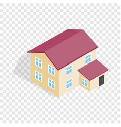 two storey house isometric icon vector image vector image