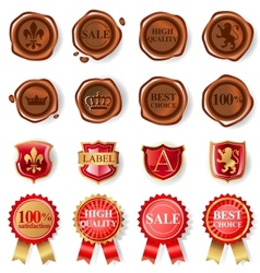 Wax seal collection vector image