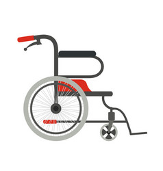 wheelchair on a white background flat style vector image vector image