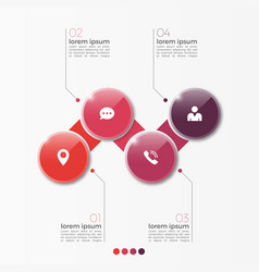4 option infographic template with circles vector image vector image