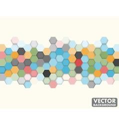 Abstract Honeycomb Hexagon Background vector image vector image