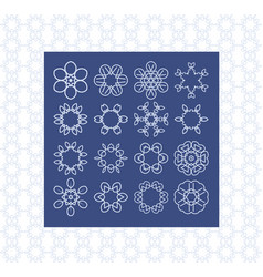 Basic symbol templates for background and vector