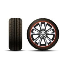 Car Wheel Realistic vector image