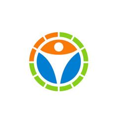human icon circle logo vector image vector image