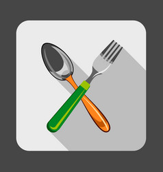 spoon fork concept background cartoon style vector image