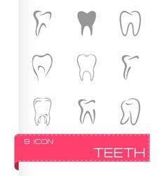 teeth icon set vector image vector image