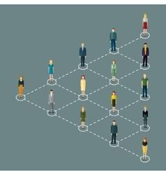 Concept of social media marketing vector image vector image