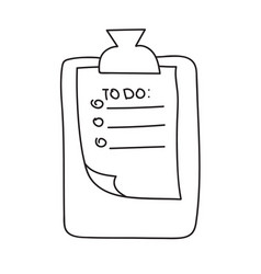 hand drawn check to do list bullet vector image