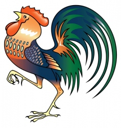 Singing rooster vector