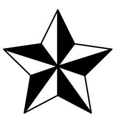 star award flat icon black silhouette vector image vector image