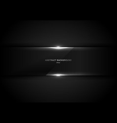Abstract background black glass panel glossy with vector