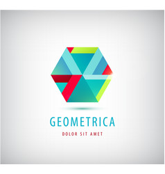 abstract geometric modern logo company vector image