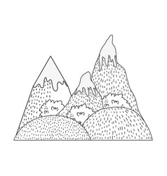 Adventure landscape with snow mountain vector