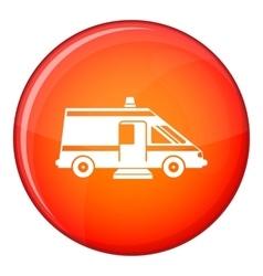 Ambulance icon flat style vector