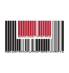 Barcode typeface font vector