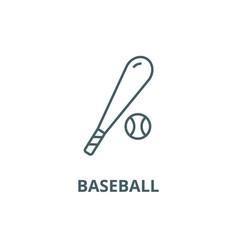 baseball line icon baseball outline sign vector image