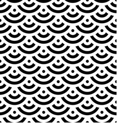 Black fish scale background of concentric circles vector