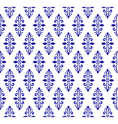 Blue and white seamless pattern vector
