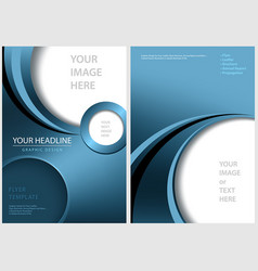 blue front and back flyer template vector image
