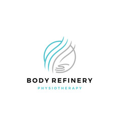 body refinery hand care circle logo icon vector image