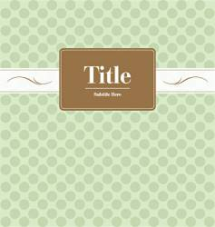 book cover vector image