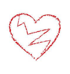 broken black heart icon heartbreak vector image