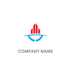 building business abstract company logo vector image
