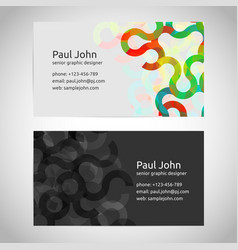 business card template front and back vector image