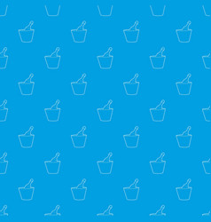 champagne in bucket pattern seamless blue vector image