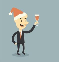 christmas wine vector image