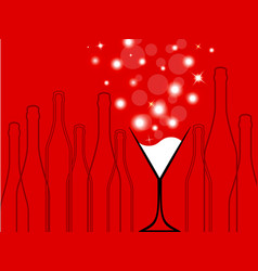 cocktail party red vector image