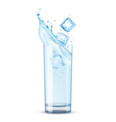 Cold water glass composition vector