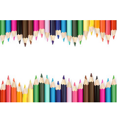 Colorful pencils on white background vector
