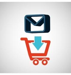 E-commerce store email envelope digital vector